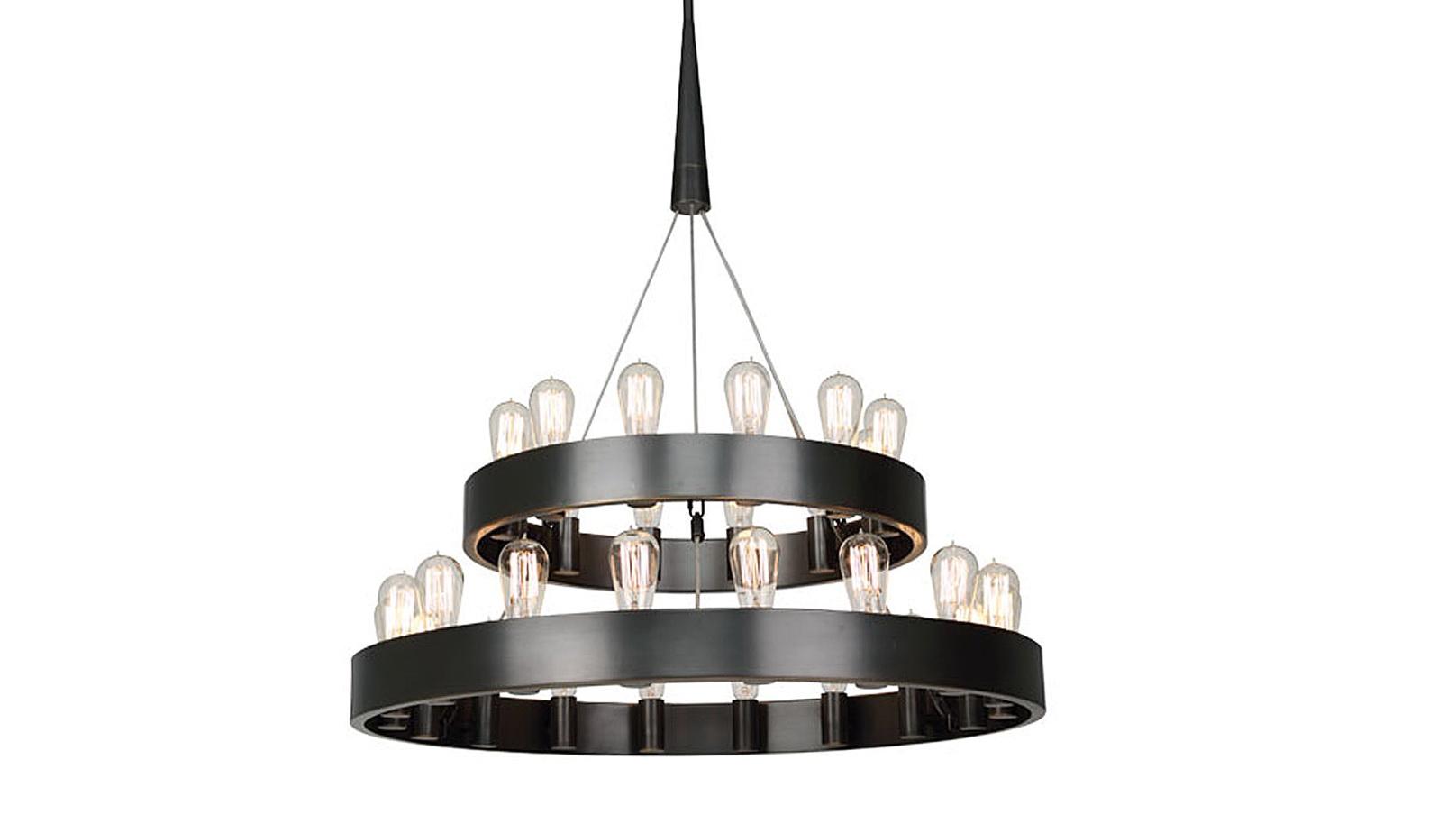 Round Edison Bulb Chandelier