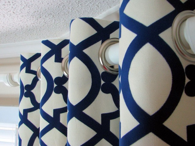 Royal Blue And White Curtains