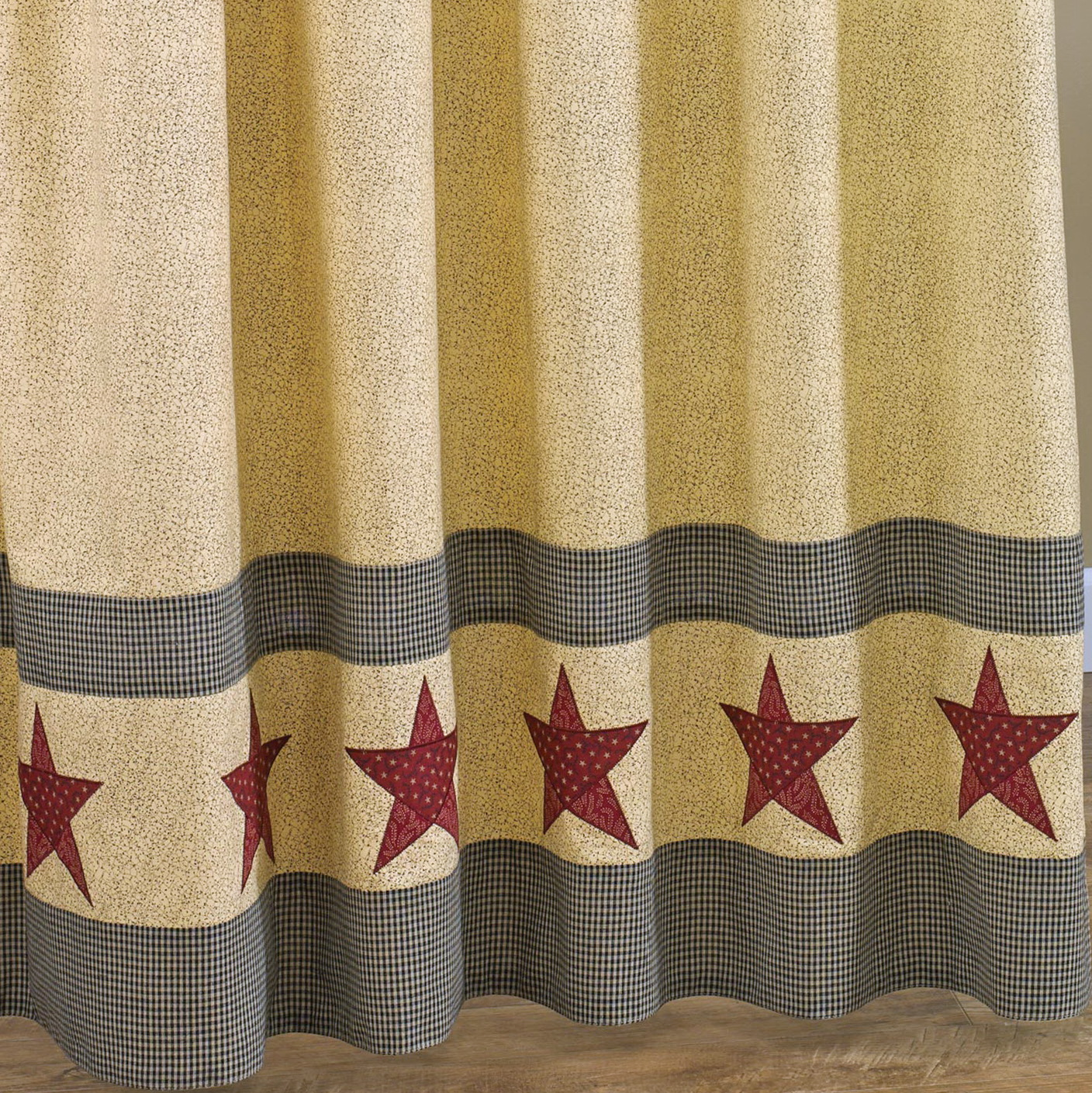 Rustic Star Shower Curtains