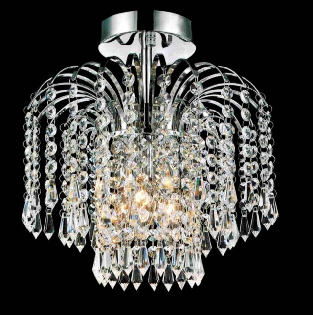 Semi Flush Mount Crystal Chandelier
