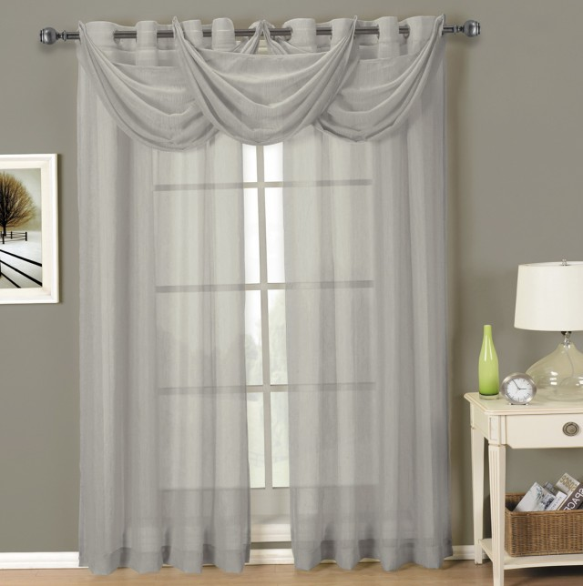 Sheer Curtain Panels With Grommets