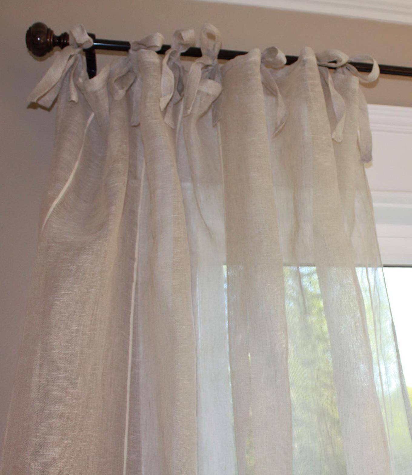 Sheer Linen Curtain Panels
