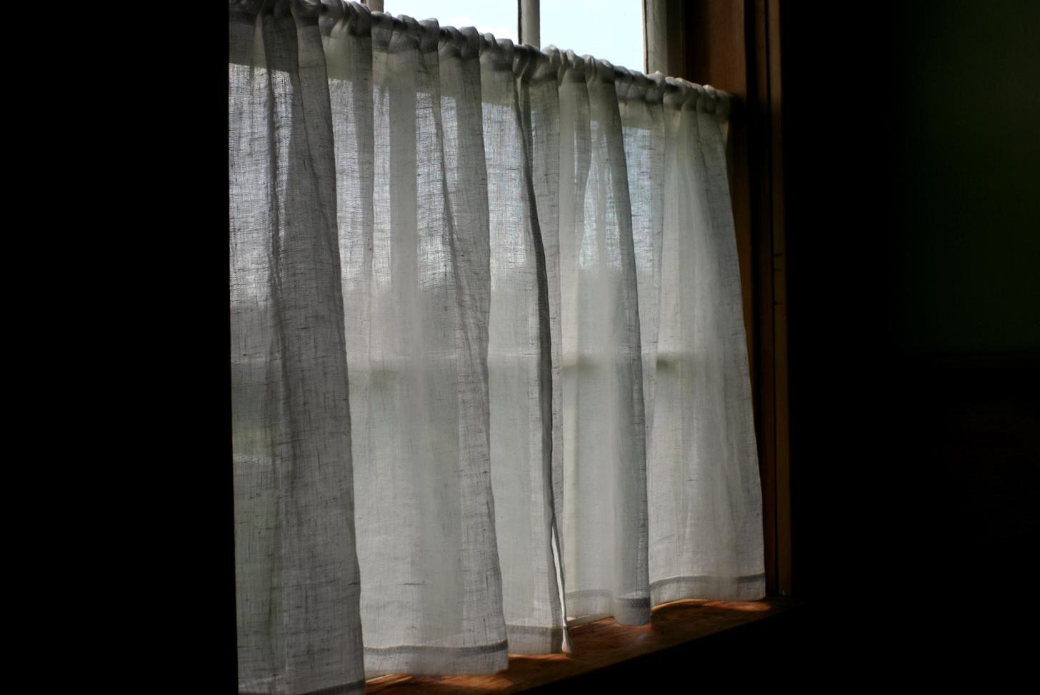Sheer White Linen Curtains