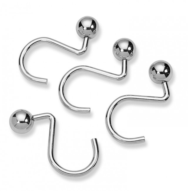 Shower Curtain Hooks Chrome
