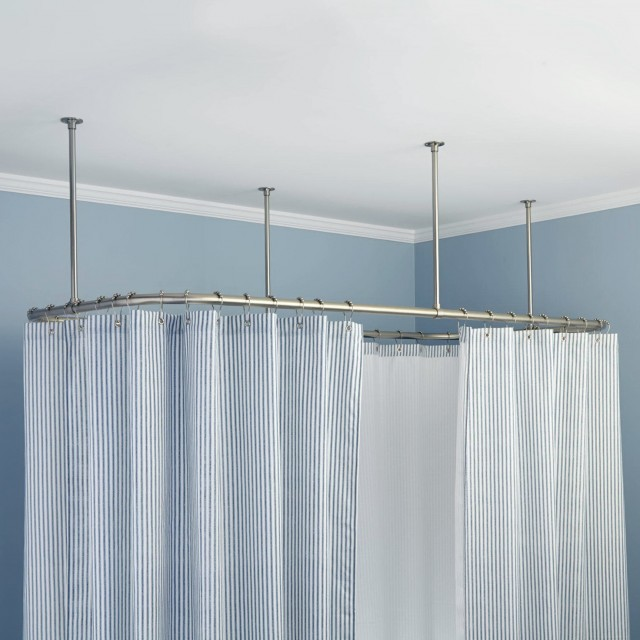 Shower Curtain Rod Ceiling Mount