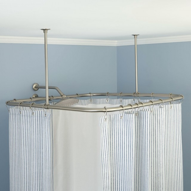 Shower Curtain Rods Ceiling Mount