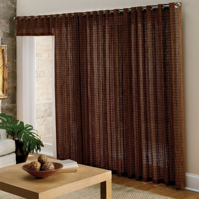Sliding Door Curtains Modern