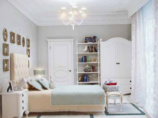 Small White Bedroom Chandelier