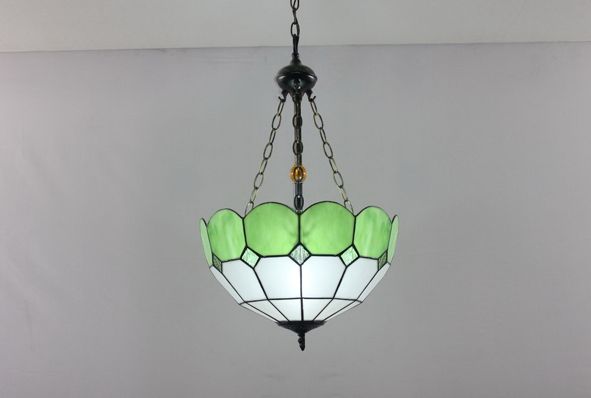 Stained Glass Parrot Chandelier