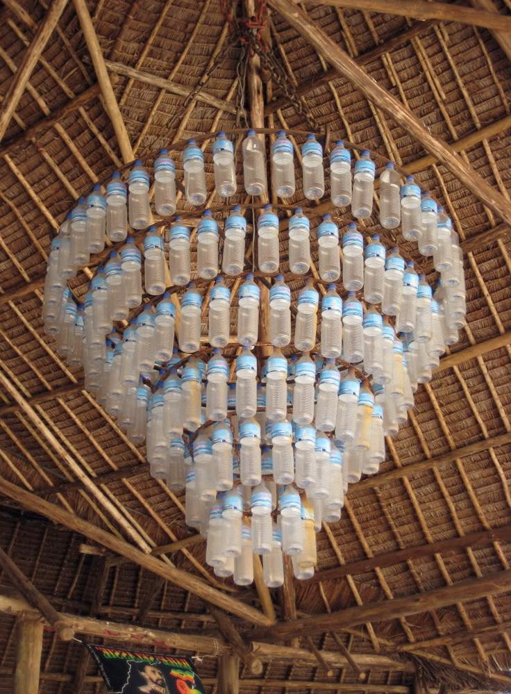 Water Bottle Chandelier Pinterest