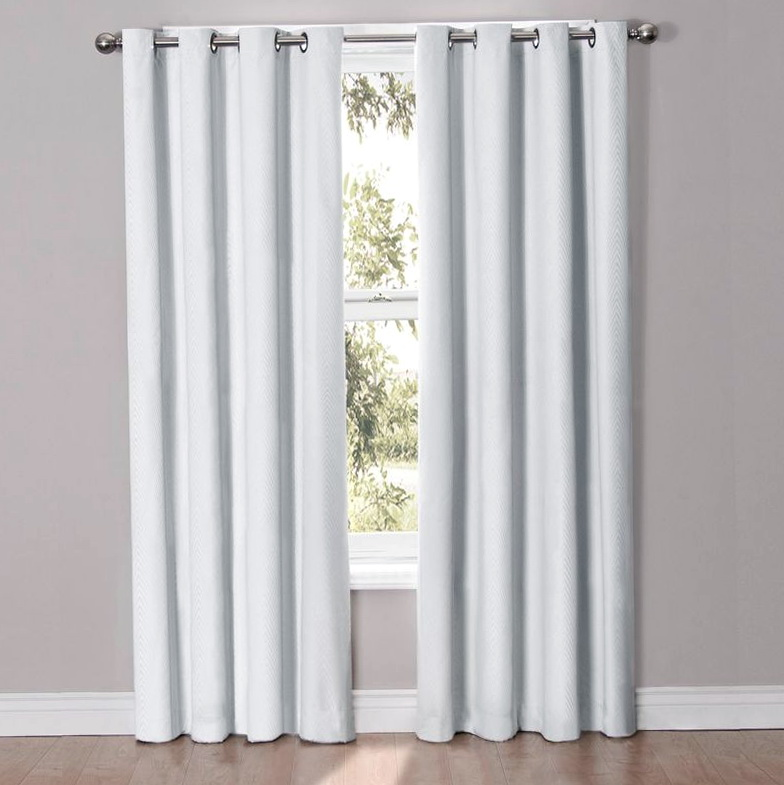 White Blackout Curtains Grommet