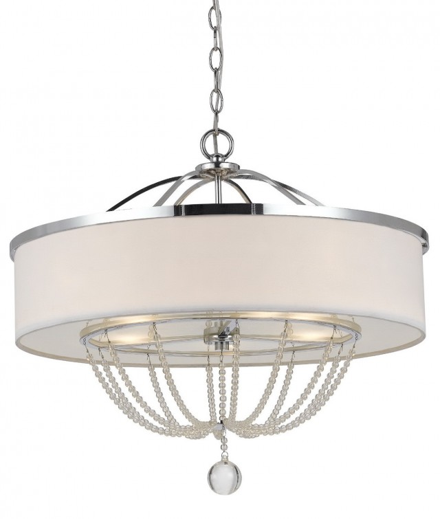 White Drum Pendant Chandelier