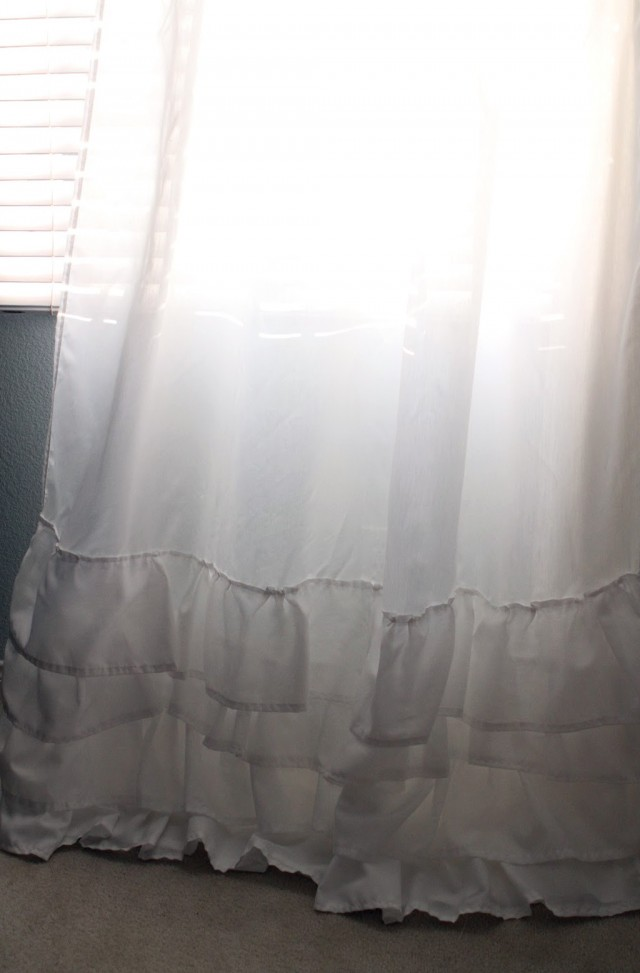 White Ruffle Curtains For Nursery