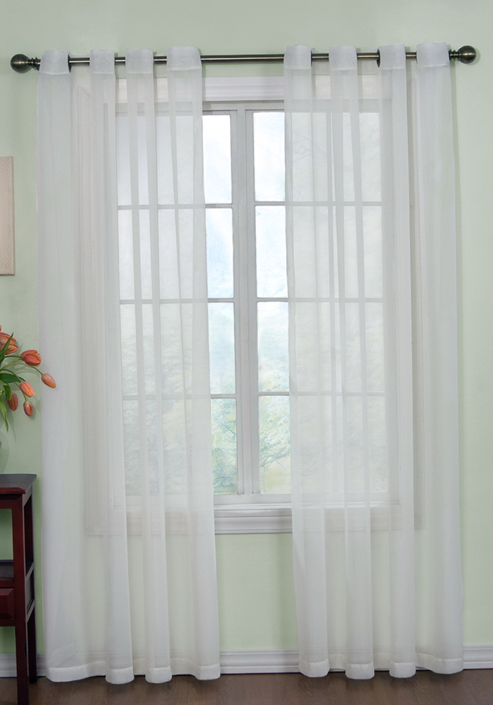 White Sheer Curtains With Grommets