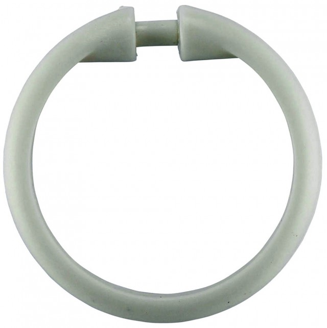 White Shower Curtain Rings
