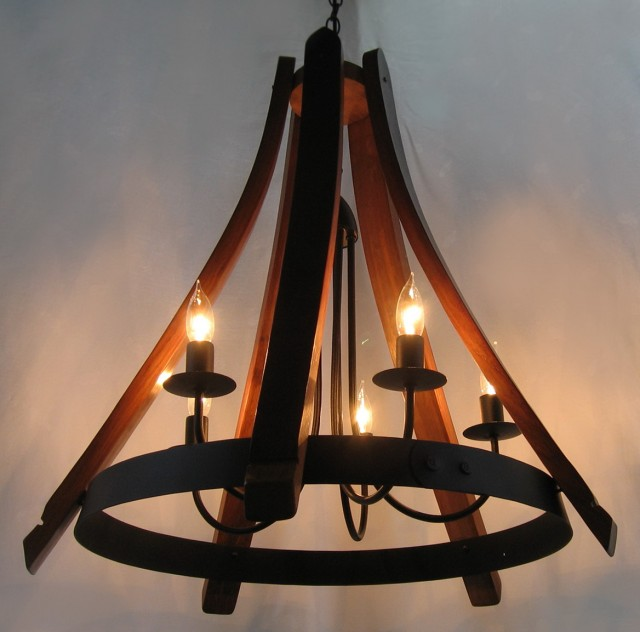 Wine Barrel Chandelier For Sale