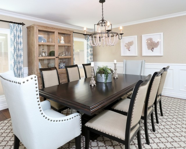 Wood Bead Chandelier Dining Room