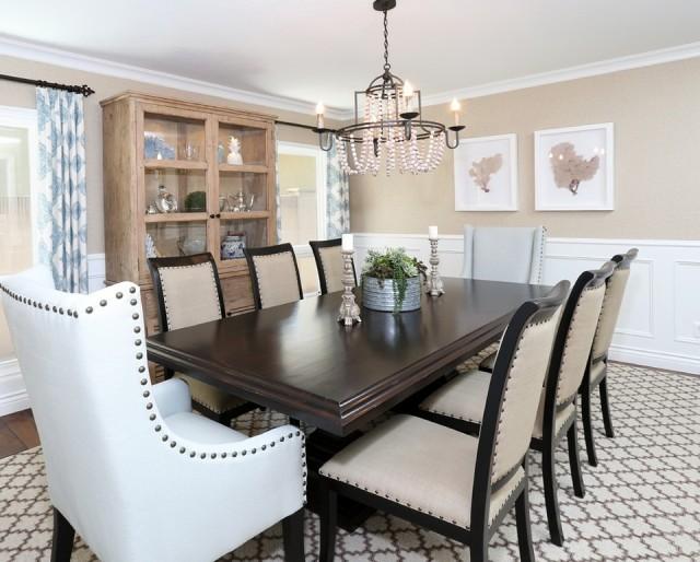 Wood Bead Chandelier Dining Room