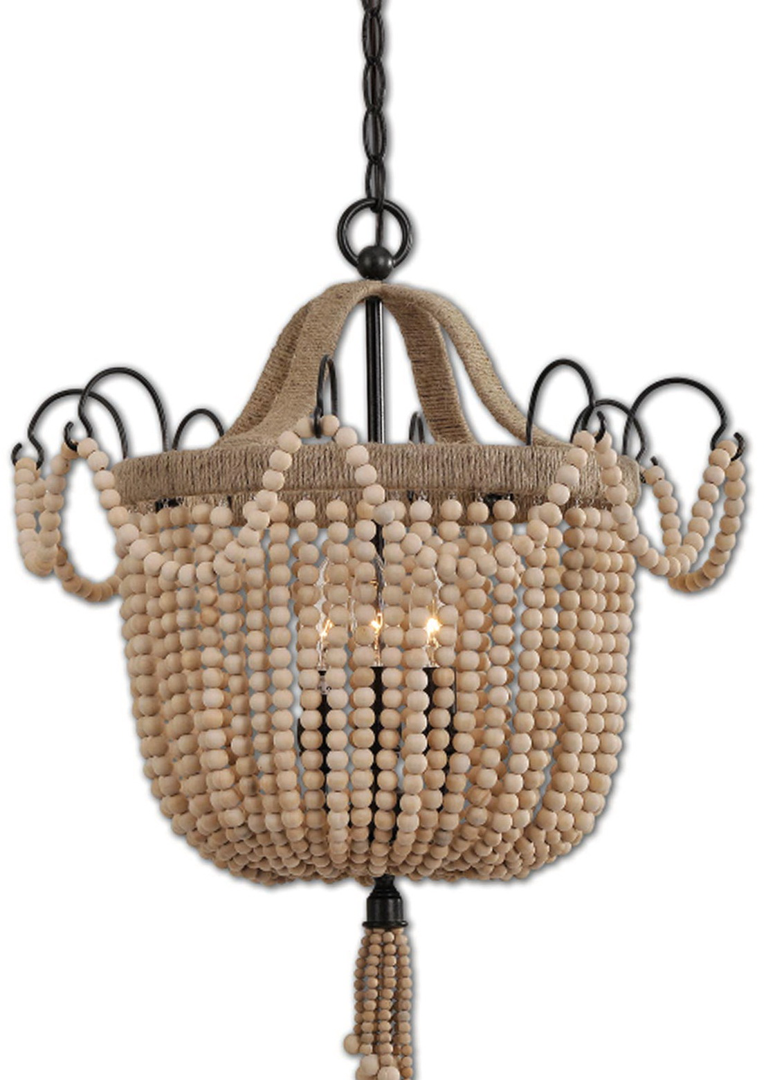 Wooden Beaded Chandelier Uk