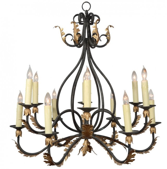 Wrought Iron Candle Chandelier Australia