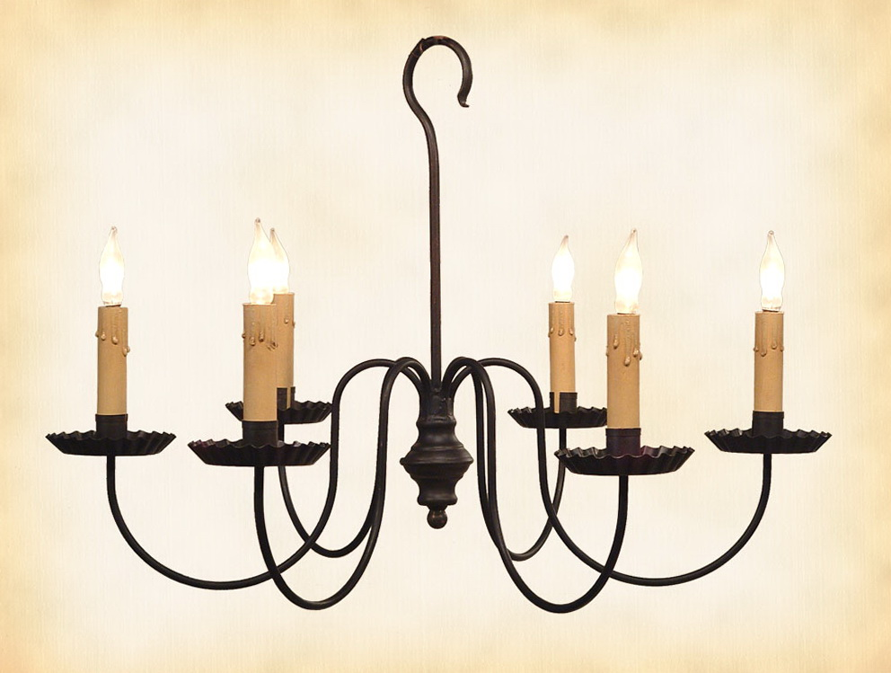 Wrought Iron Candle Chandelier Lighting