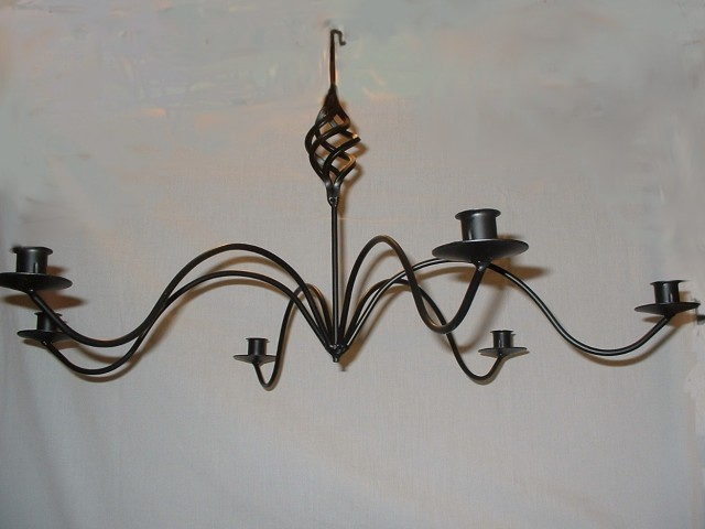 Wrought Iron Candle Chandelier Non Electric