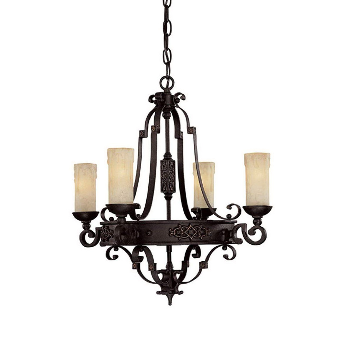 Wrought Iron Chandeliers Rustic