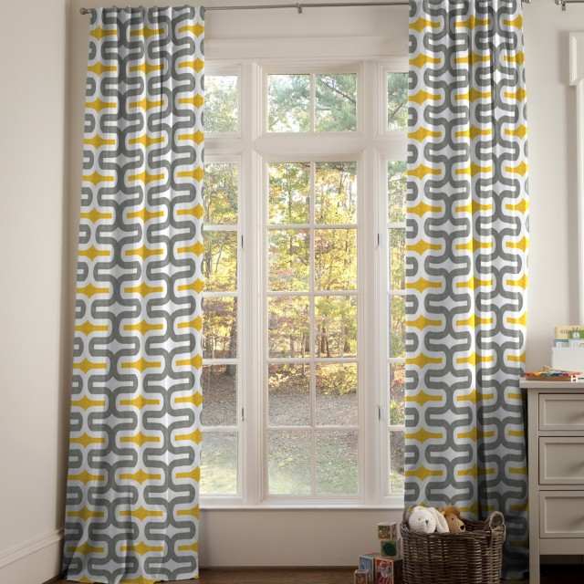 Yellow And Gray Curtains Amazon