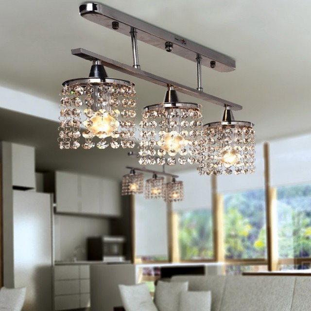 Z Gallerie Linear Crystal Chandelier
