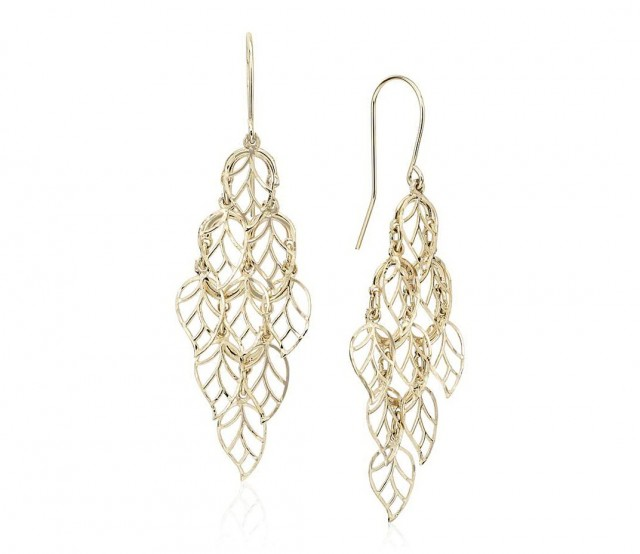 14k Gold Chandelier Earrings