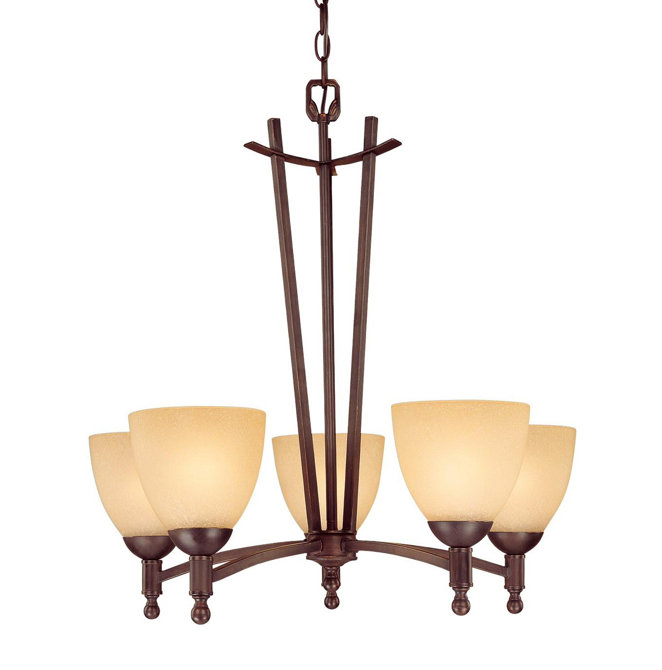 5 Light Chandelier Bronze