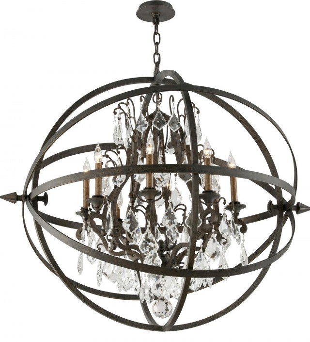Antique Bronze 8 Light Chandelier