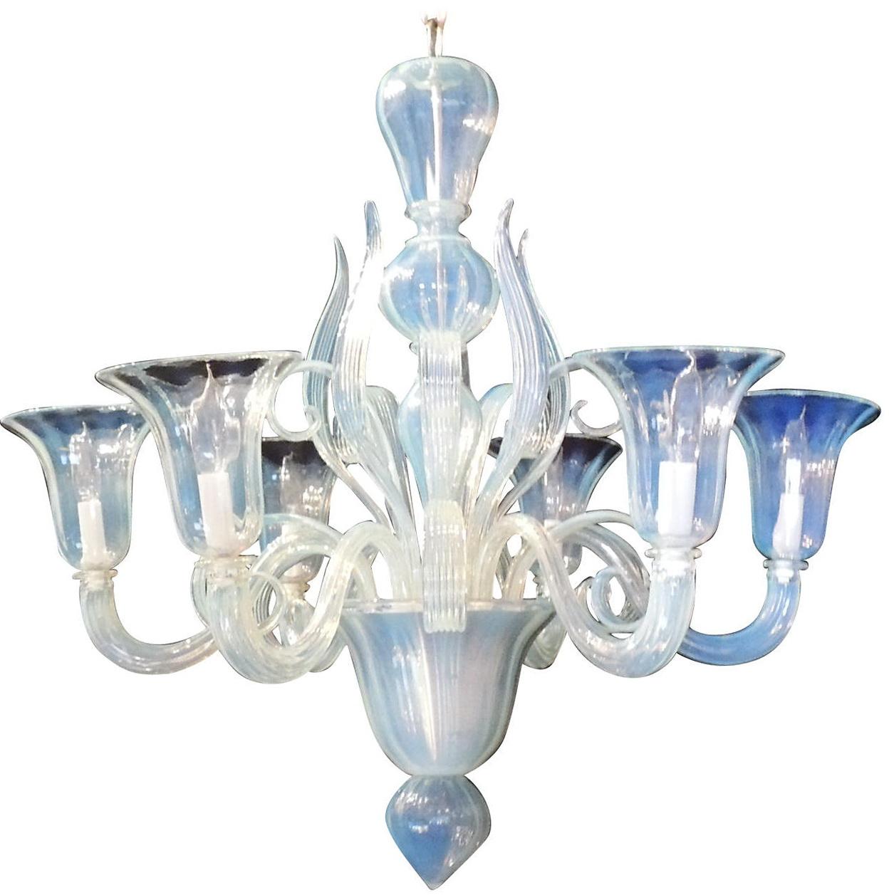 Antique Venetian Glass Chandelier