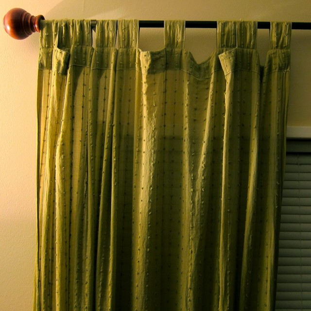 Apple Green Curtain Panels