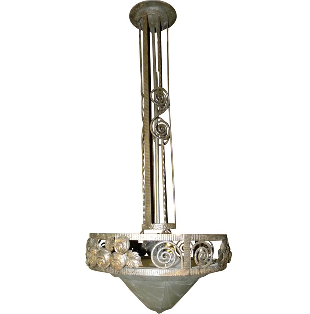 Art Deco Chandelier For Sale