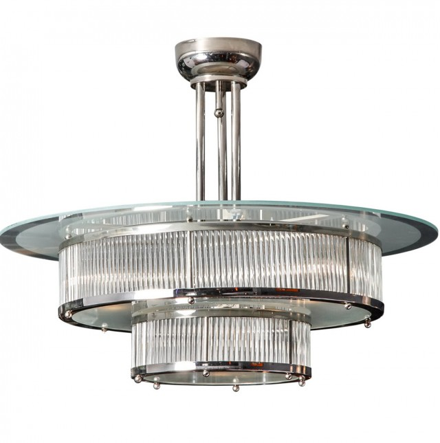 Art Deco Glass Chandelier