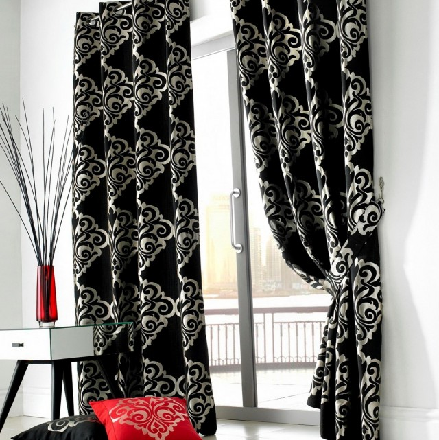 Black And White Grommet Curtains