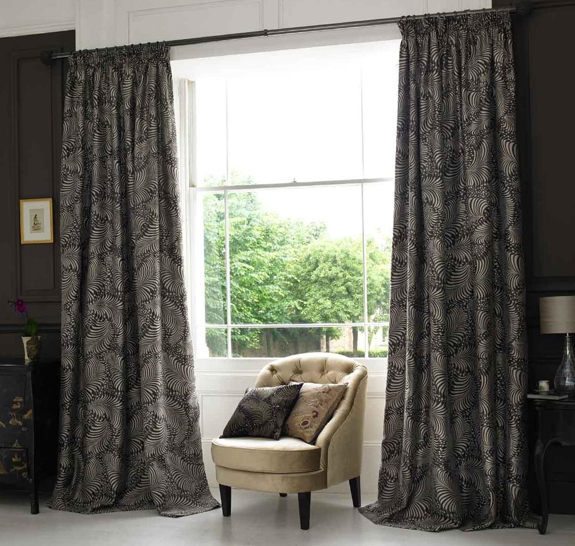 Black Bedroom Window Curtains