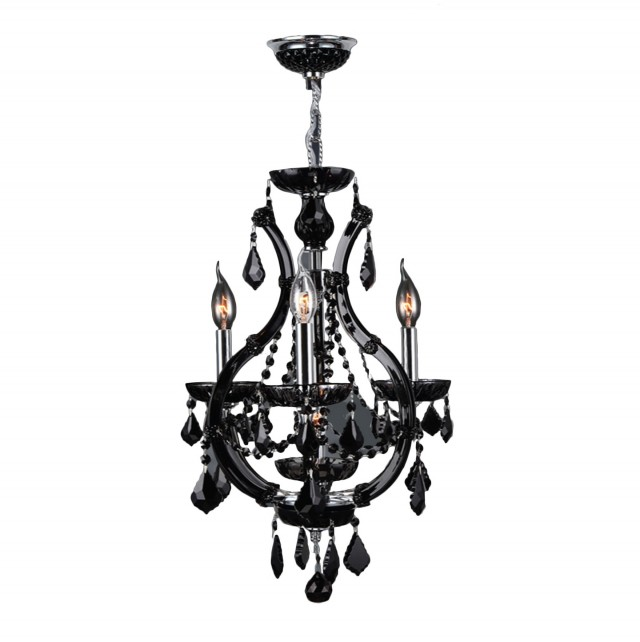 Black Chrome Crystal Chandelier
