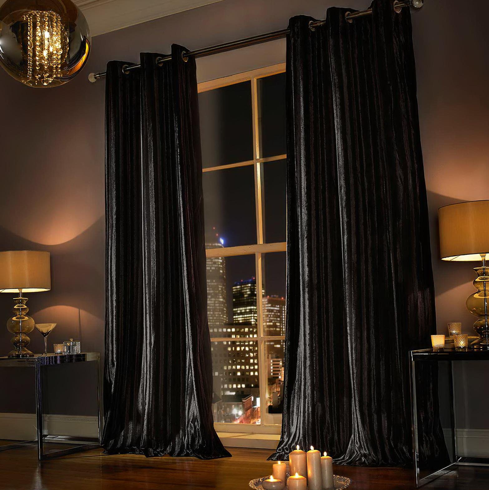 Black Velvet Curtains Uk