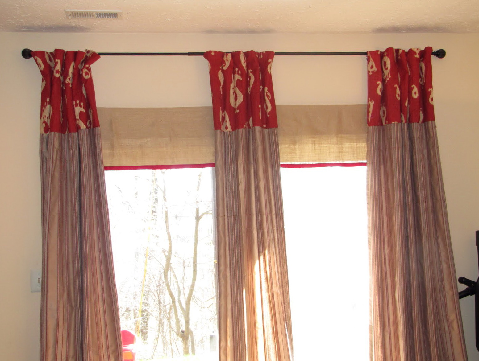 Blinds And Curtains Together