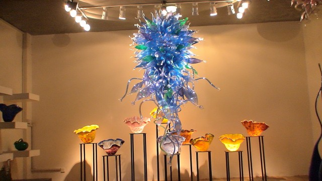 Blown Glass Chandelier Lighting