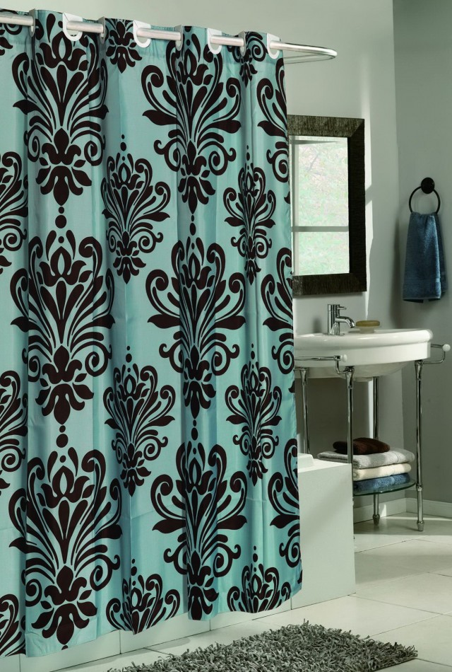 Blue And Brown Shower Curtains