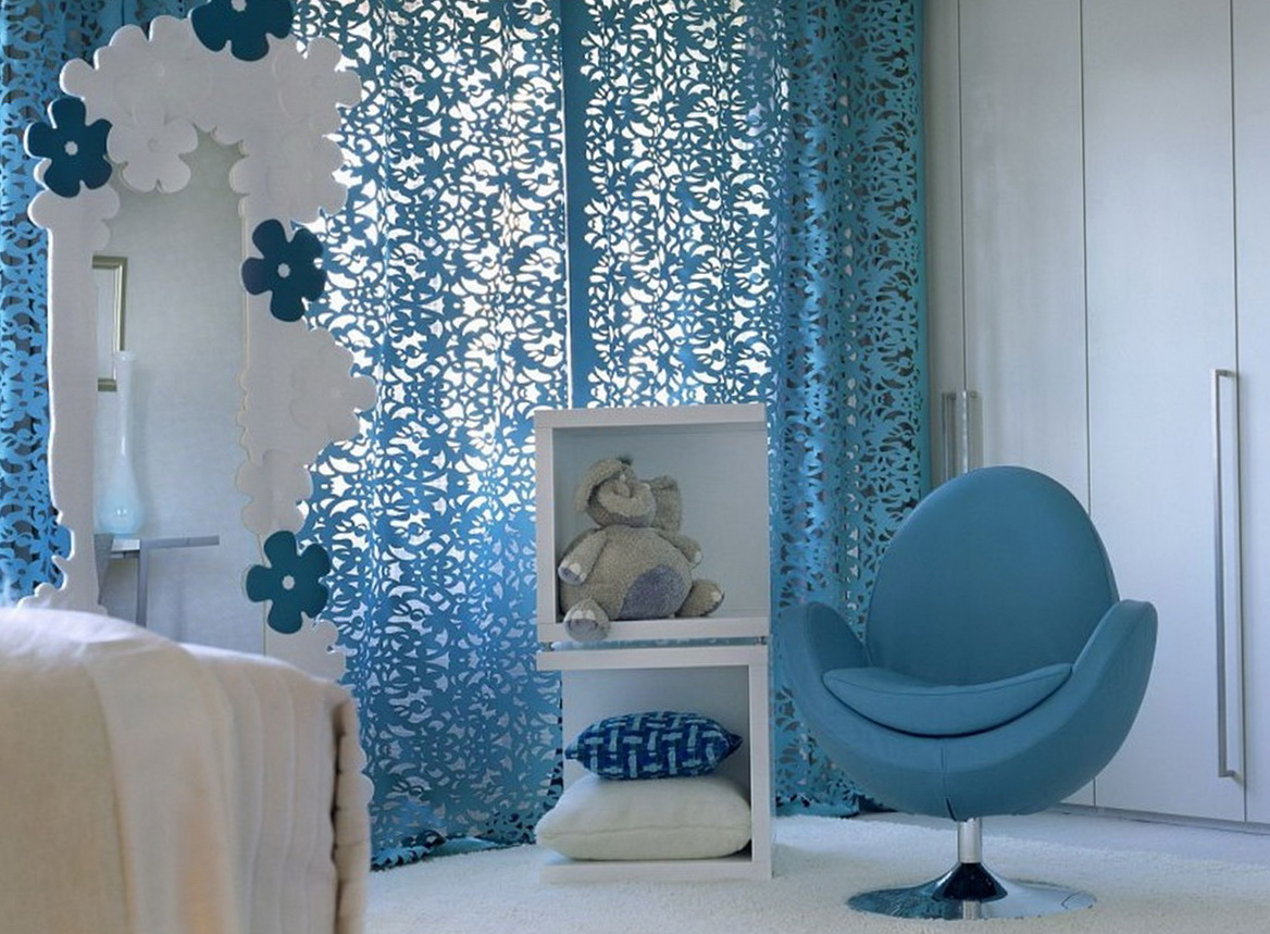 Blue Curtains For Girls Room