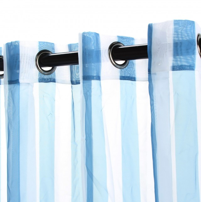 Blue Curtains With Grommets