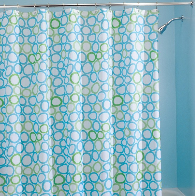 Blue Shower Curtains Fabric