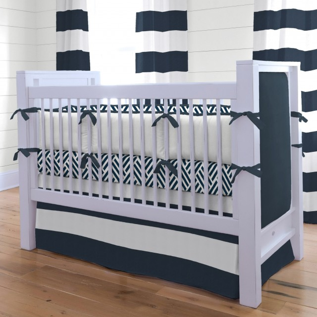 Blue Striped Curtains Childrens Bedroom