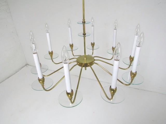 Brass Mid Century Chandelier