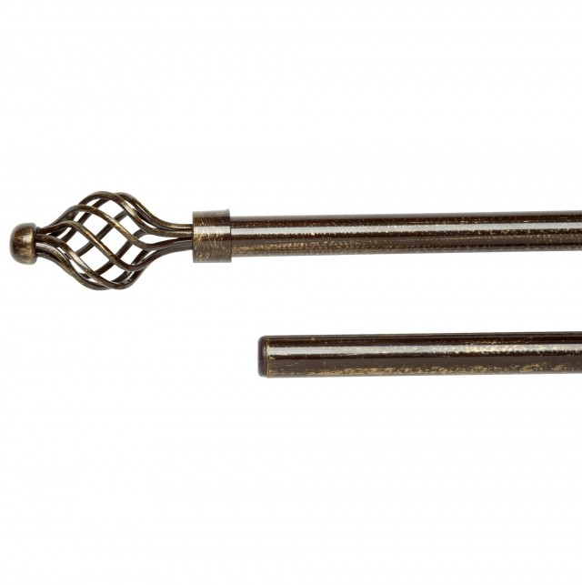 Bronze Double Curtain Rods