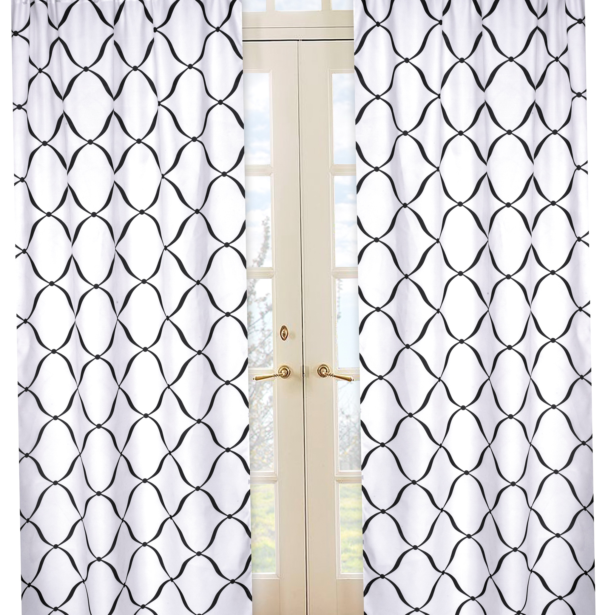 Brown And White Curtain Panels